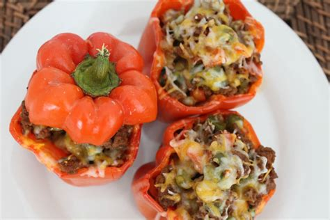 mom s stuffed bell peppers recipe dishmaps