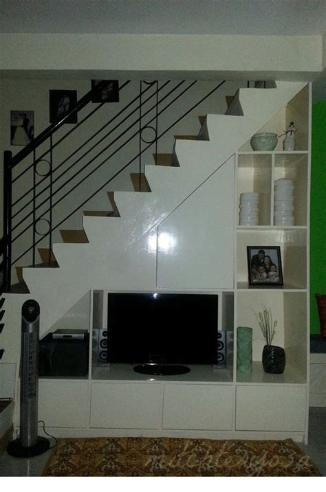 tv cabinet under the staircase home improvement pinterest staircases tvs and tv units
