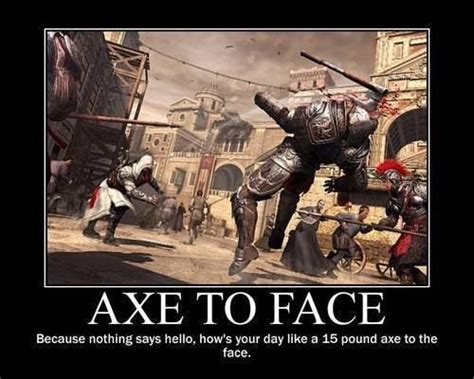 Funny Assassins Creed Memes - assassins creed humor girl gamer pinterest helmets