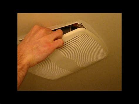 how to remove a broan bathroom fan cover bathroom vent fan remove cover and clean dust youtube