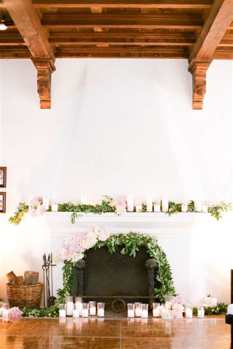 wedding wednesday fireplace mantles flirty fleurs the