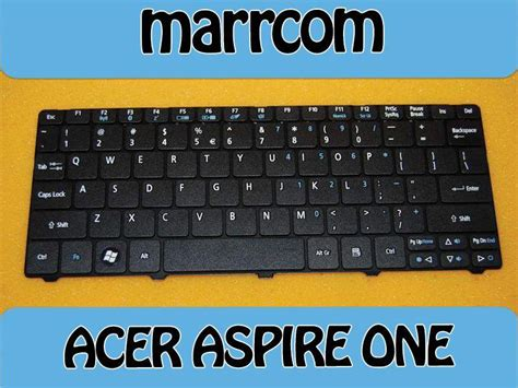 Keyboard Acer Aspire One 721 722 751 751h 1830t 4 klawiatura acer aspire one 721 722 751h 752h 1830t zdj苹cie na imged