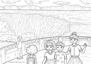 coloring page of niagara falls canada colouring pages
