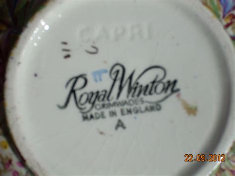 Royal Winton Grimwades Vase I Have A Royal Winton Vase With A Backwards F And 1 1 And A