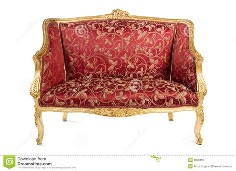 antique red sofa red antique sofa royalty free stock photography image