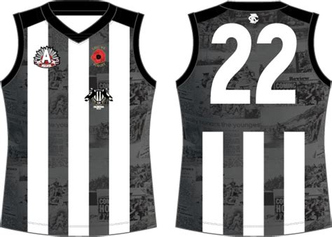 Collingwood One Off Promo Jumpers Jumper Day Template Letter