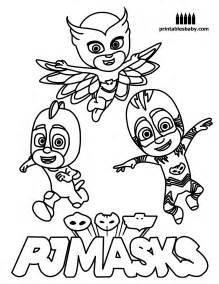 pj masks printables baby free cartoon coloring pages coloring books pj mask