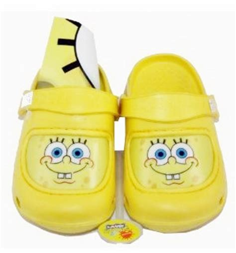 crocs 4 5 toddler nickelodeon spongebob squarepants yellow slipper crocs clogs baby toddler sz 5 6 nickelodeon