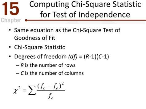 chi test the chi square statistic tests for goodness of fit and