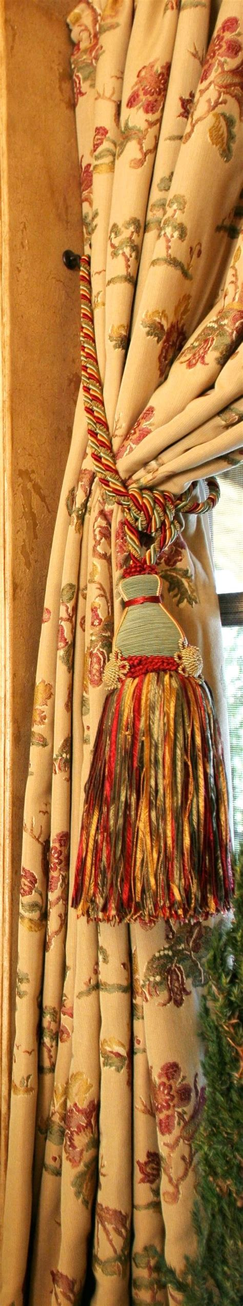 old world drapes curtains old world and tassels on pinterest