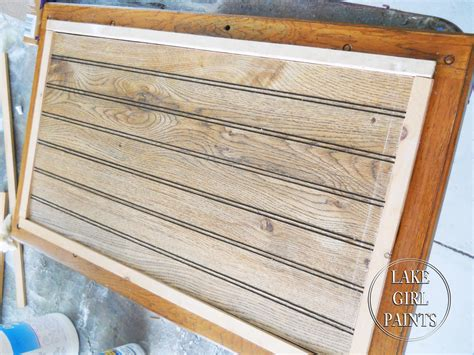 refacing cabinet doors with beadboard lake paints entertainment center gets beadboard