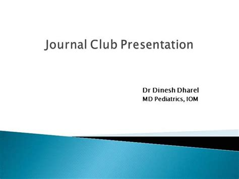 Journal Club Presentation Template Journal Club Journal Club Template Ppt