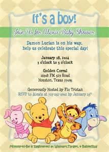 winnie the pooh baby shower invitation baby shower