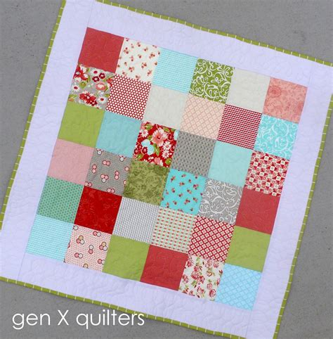 Easy Patchwork Quilt - genxquilters modern traditional quilting block of the