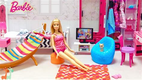 diy barbie bedroom shower vanity closet furniture set youtube