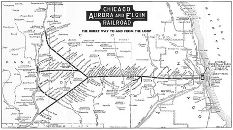 chicago railroad map the chicago and east elgin railroad model