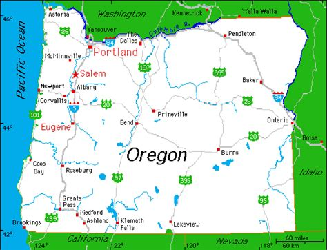 portland on map of oregon portland oregon map