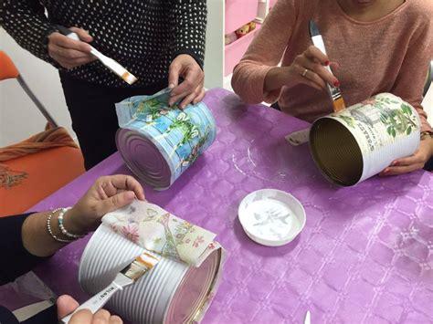 tutorial decoupage sobre latas latas decoupage centro infantil mar de agata