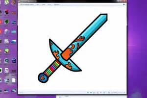 tutorial design your own minecraft sword make a custom texture pack diy