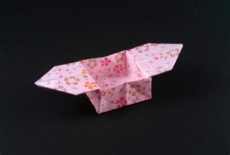Traditional Origami Box - box with side flaps traditional gilad s origami page