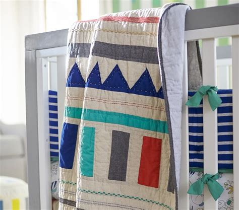 Patchwork Crib Bedding Margherita Missoni Linen Patchwork Baby Bedding Pottery Barn