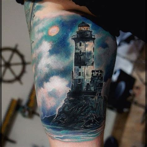 gorgeous lighthouse tattoo artist pavel roch women body