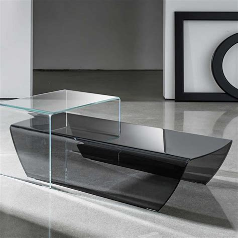 curved coffee table taky curved glass coffee table klarity glass furniture