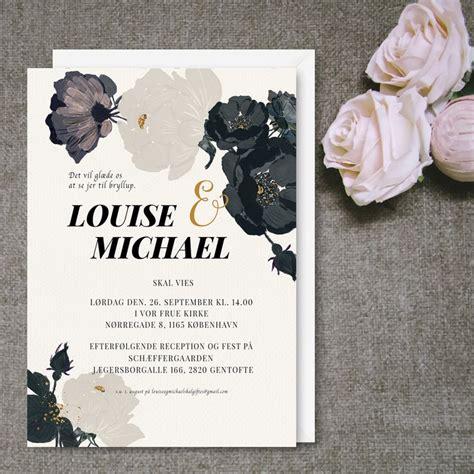 design invitationskort bryllupsinvitation bryllup print selv indbydelse