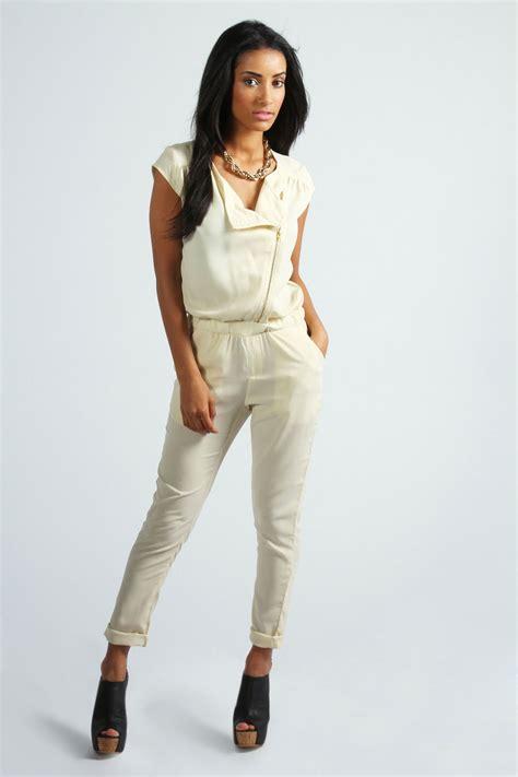 Js Layla Jumpsuit Layla boohoo layla front zip biker jumpsuit ebay