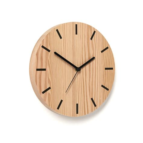 line wooden wall clock by byshop notonthehighstreet