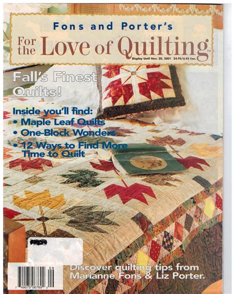 Fons And Porter Of Quilting Magazine fons and porter for the of quilting magazine fall