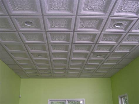 ornate drop ceiling finished basement hotness
