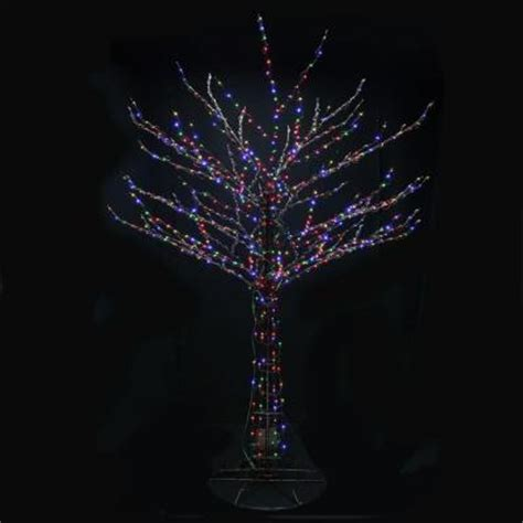 led smart tech lighting tree santa s best 8 ft outdoor led brown bare branch tree