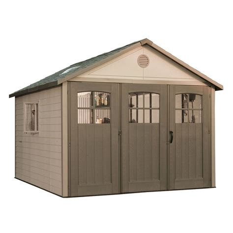 Home Depot Shed Doors lifetime 11 ft x 11 ft storage shed with 9 ft wide