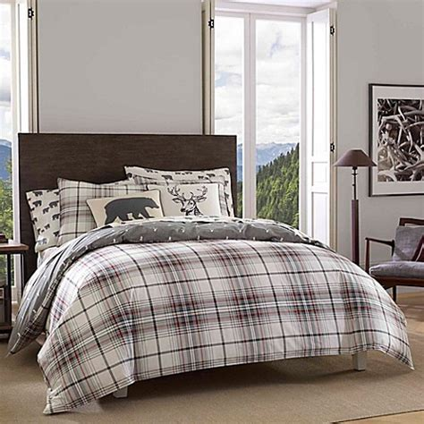 eddie bauer bedding eddie bauer 174 alder plaid reversible comforter set bed