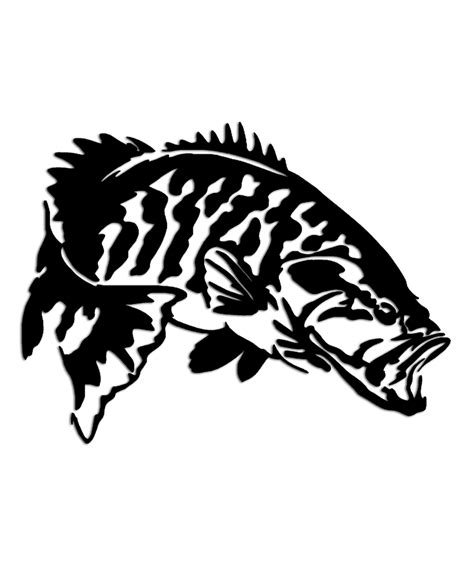 bass boat decals stickers smallmouth bass fishing sticker aftershock decals