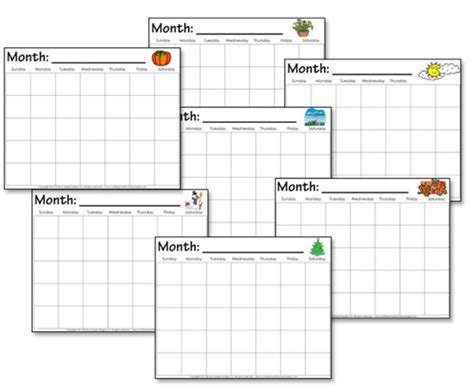 Preschool Monthly Calendar Template free blank calendar for teachers calendar template 2016