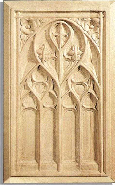 Gothic Kitchen Cabinets | gothic door panel maple wood traditional kitchen