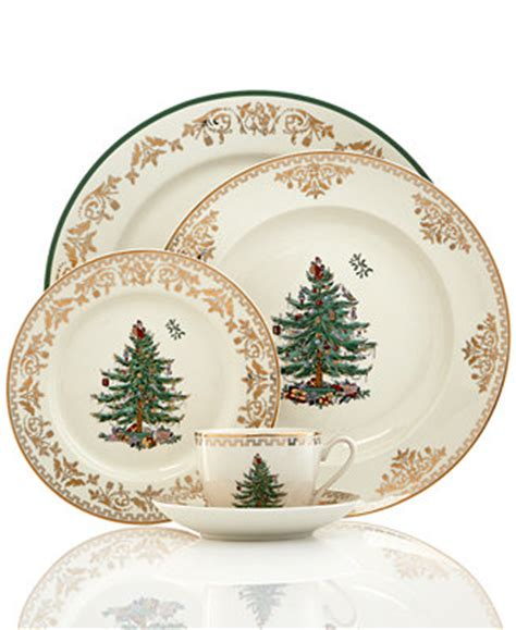 spode christmas tree gold collection fine china macy s