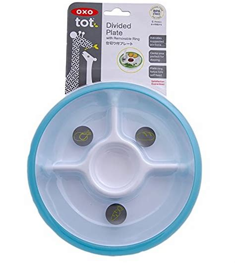 Oxo Tot Plate by Oxo Tot Divided Plate In Aqua