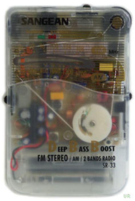 Pocket Stereoscope 4x sangean sr 33 clear prison am fm radio