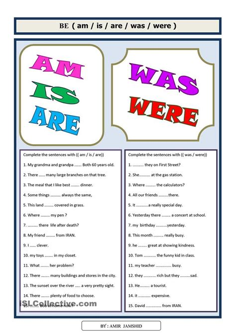printable grammar worksheets 52 best was wasnt were werent worksheet images on