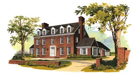 georgian colonial house plans georgian colonial house plans home design hw 2662 17581