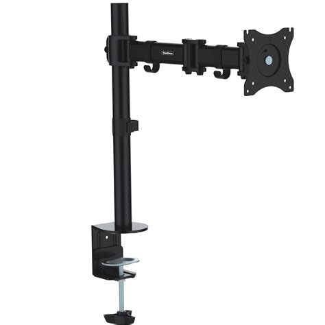Computer Monitor Desk Mount Arm Vonhaus Single Arm Lcd Led Monitor Desk Stand Mount For 13 27 Screens Ebay