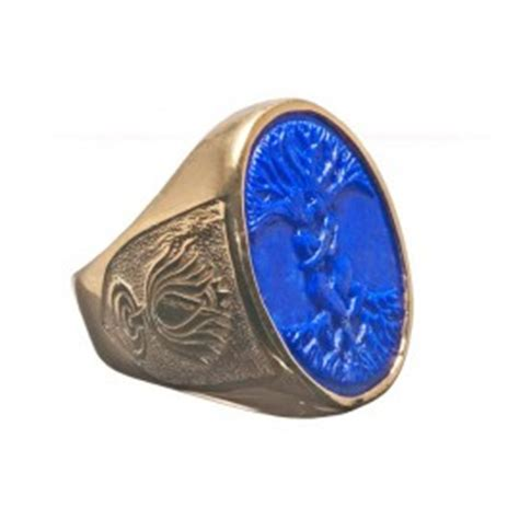 lapis ring tree of lotus flower gold plated sterling