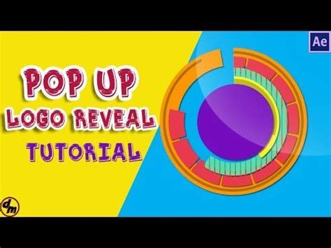 tutorial logo pop how to make pop up circles logo reveal after effects
