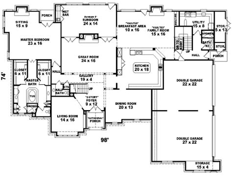 luxury style house plans 7700 square foot home 2 story