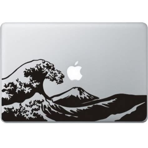 Promo Apple Mac Book 13 Decal Wave beyond the great wave macbook sticker kongdecals macbook