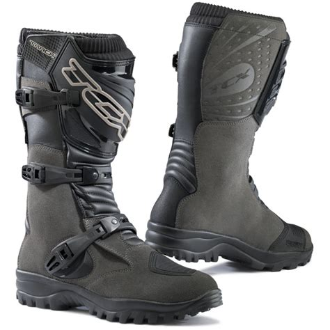 motorcycle track boots tcx track evo wp boots overland magazine