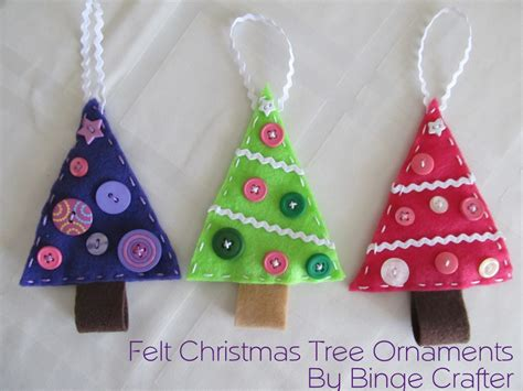 felt christmas trees tutorial binge crafter